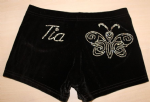 Personalised shorts with a Butterfly